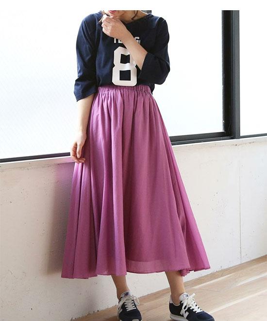 大人のピンクコーデ・coen(コーエン)のスカート画像1a