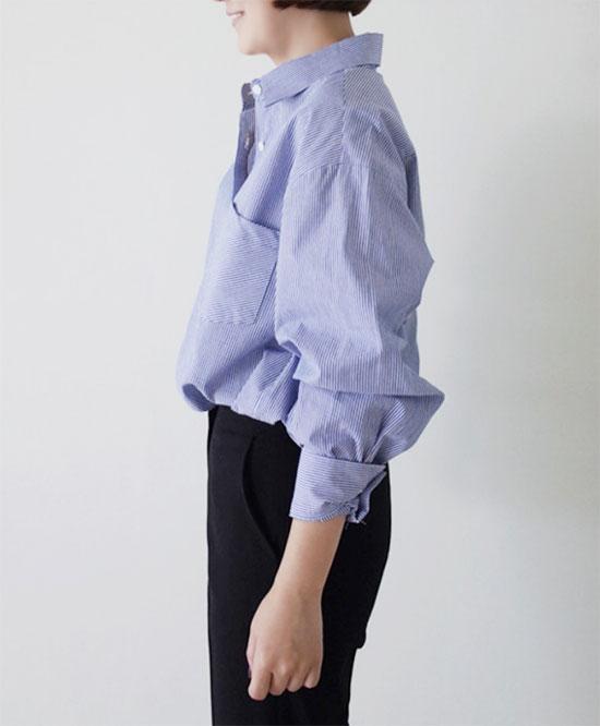 ストーリーナインの休日コーデ・ストライプTシャツ画像9