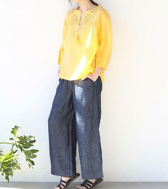COEN(コーエン)のフレンチリネン・パンツ画像4b