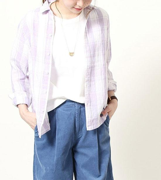 COEN(コーエン)のフレンチリネン・長袖シャツ画像d