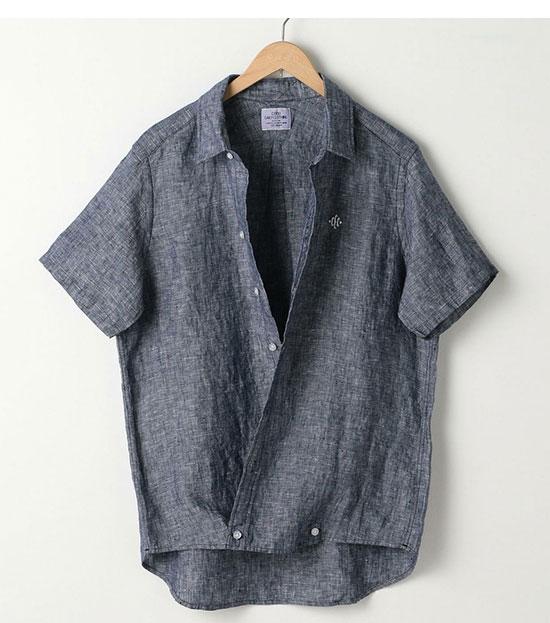 COEN(コーエン)のフレンチリネン・半袖シャツ画像a