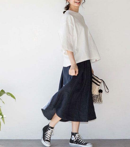 COEN(コーエン)のフレンチリネン・スカート画像1d