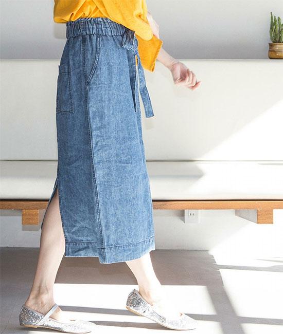 COEN(コーエン)のフレンチリネン・スカート画像2b