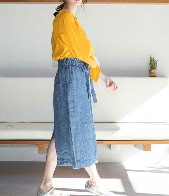 COEN(コーエン)のフレンチリネン・スカート画像2d