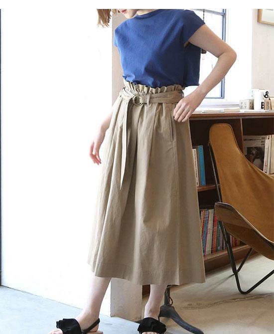 COEN(コーエン)のフレンチリネン・スカート画像3c