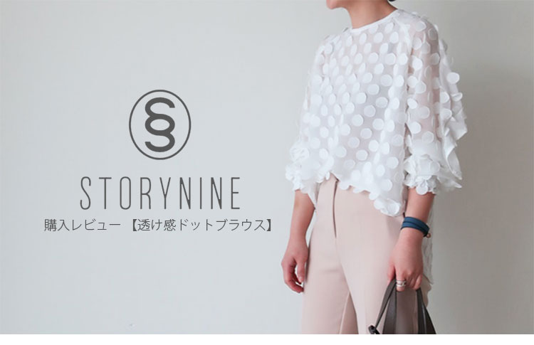STORYNINE(ストーリーナイン)購入レビュー・透け感ドットブラウス・トップ画像
